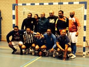 'Pleinboys' 1 vd teams tijdens Lustrum-toernooi 2014 van SC Toma.